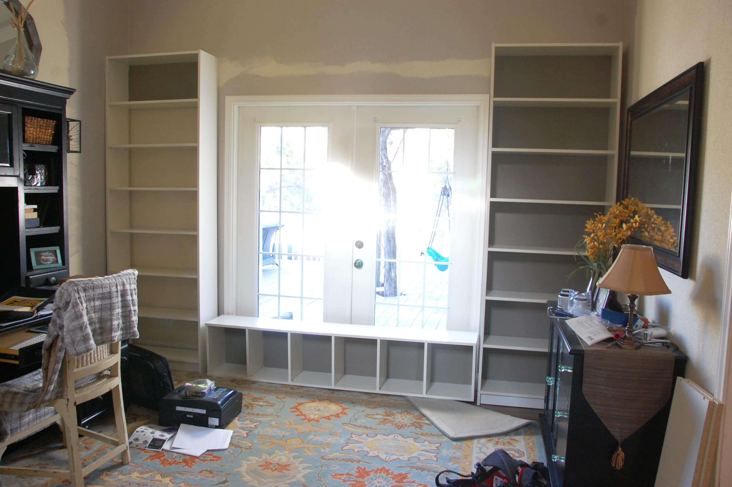 Billy Bookcase Built Ins not yet installed