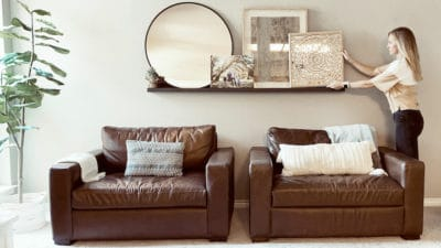 how to make DIY picture ledge shelf